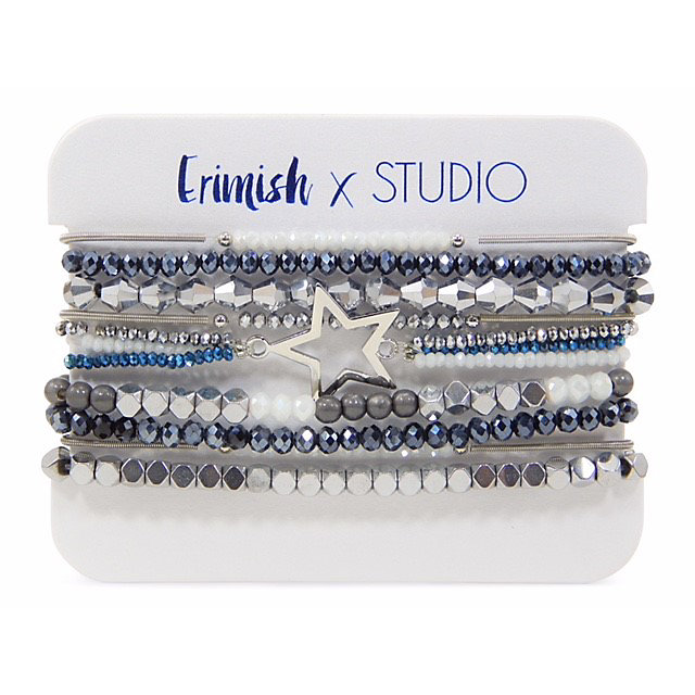 Studio Erimish Metal Star Bracelet Set