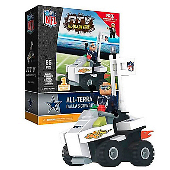 Dallas Cowboys OYO ATV with Super Fan 85pc Building Block Set