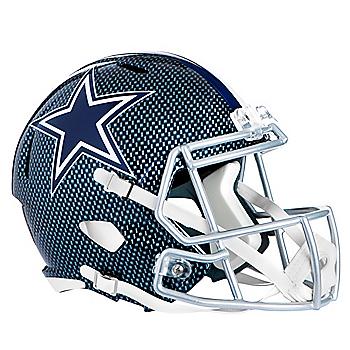 Dallas Cowboys Riddell Speed Authentic Carbon Blue Helmet