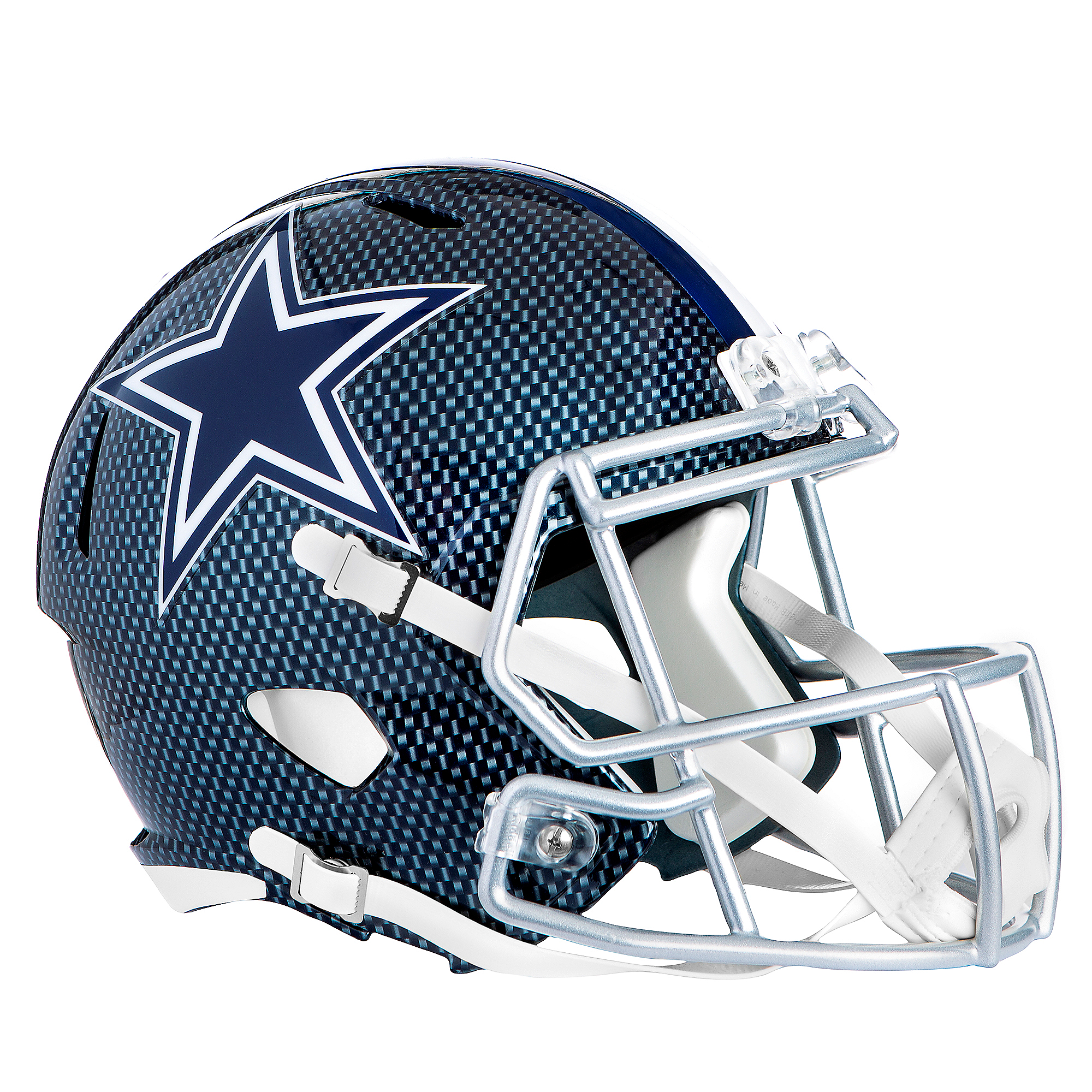 Dallas Cowboys Riddell Speed Authentic Carbon Blue Helmet