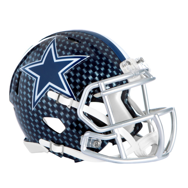 Dallas Cowboys Riddell Speed Mini Carbon Blue Helmet