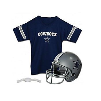 Dallas Cowboys Helmet & Jersey Set