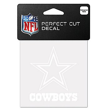 Dallas Cowboys 4x4 White Decal