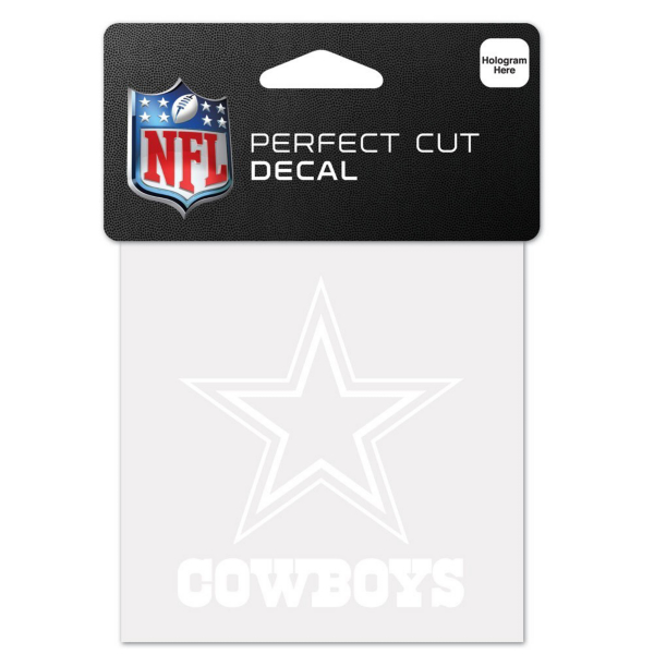 Dallas Cowboys 4x4 White Decal