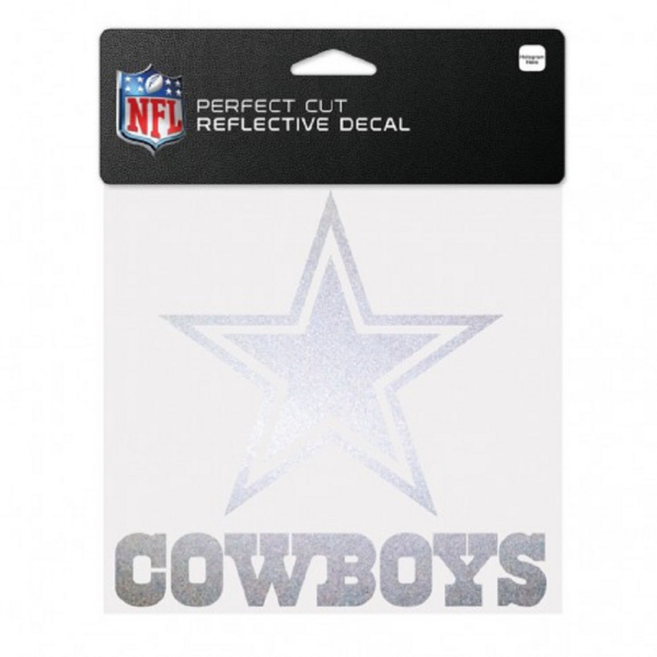 Dallas Cowboys 6x6 Perfect Cut Reflective Decal