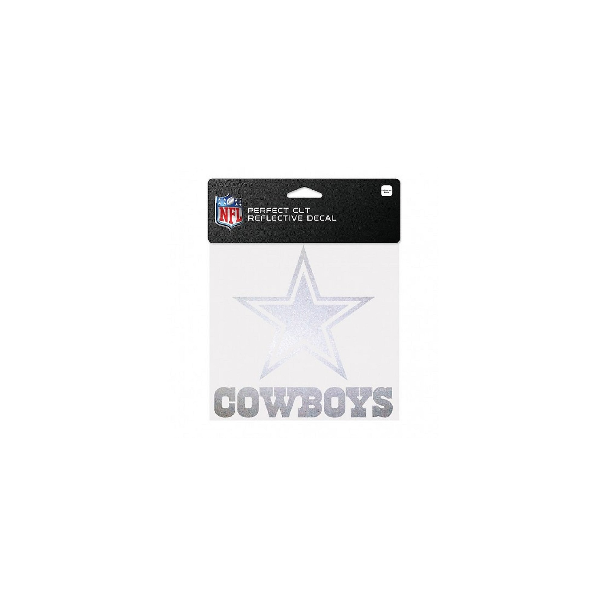 Dallas Cowboys 6x6 Perfect Cut Reflective Decal