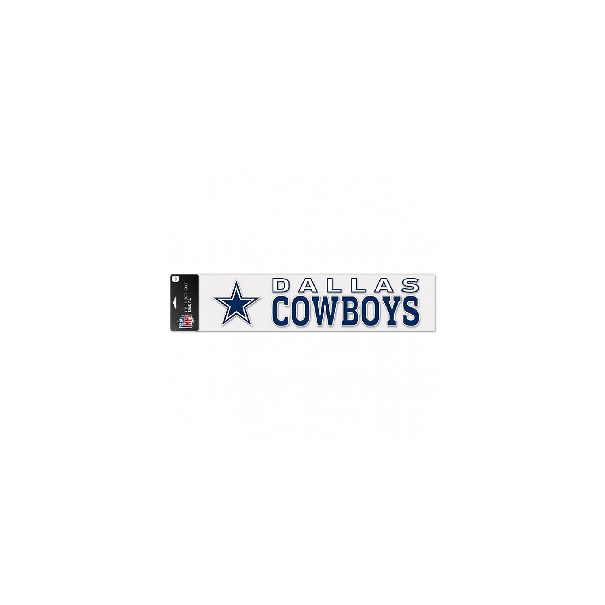 Dallas Cowboys 4x17 Perfect Cut Wordmark Decal