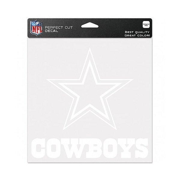Dallas Cowboys 8x8 Perfect Cut White Decal