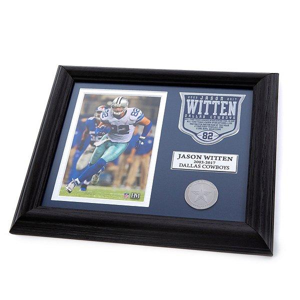 Dallas Cowboys Jason Witten Commemorative Patch Photo Mint Frame