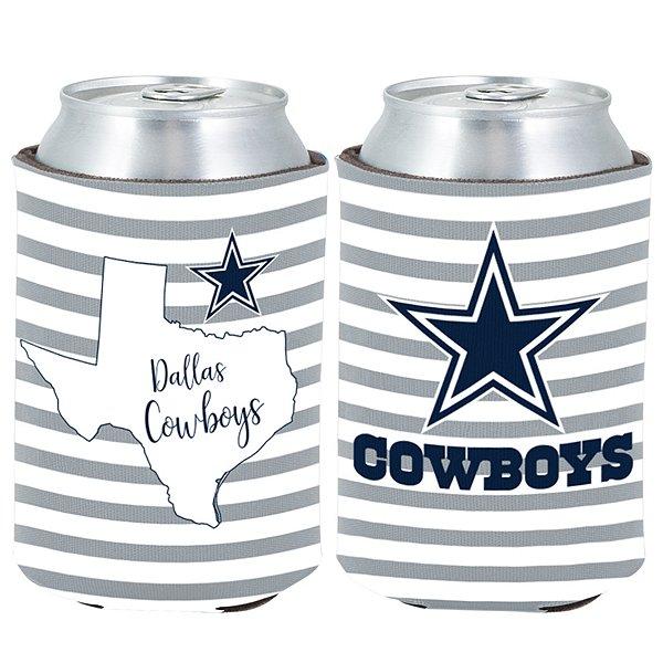 Dallas Cowboys 2fer Stripe Can Cooler