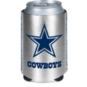 Dallas Cowboys Metallic Silver Can Cooler