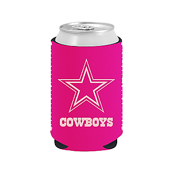 Dallas Cowboys Pink on Pink Can Coolie