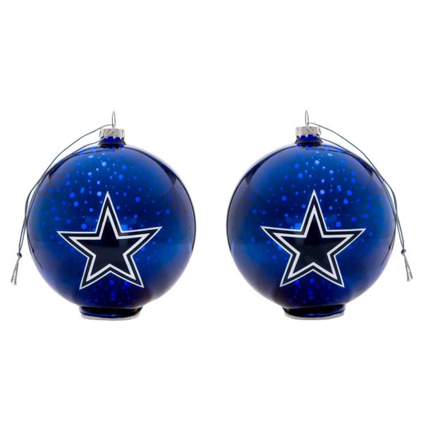 Dallas Cowboys Stargazing Glass Ball Ornaments