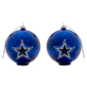 Dallas Cowboys Stargazing Glass Ball Ornaments