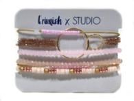Studio Erimish Pink Rose Gold Bracelet Set