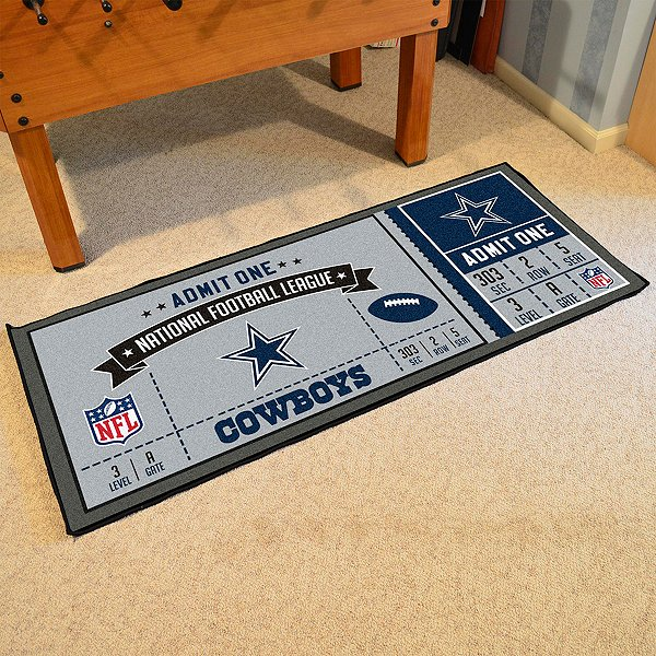 Dallas Cowboys Ticket Runner Mat