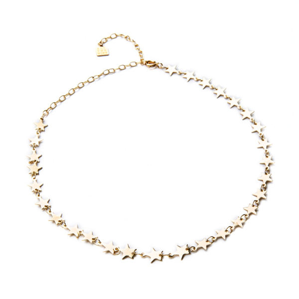 Studio All The Wire 14K Gold Seeing Stars Necklace