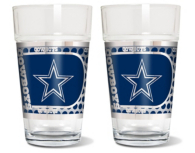Dallas Cowboys 2-Pack 16oz Pint Glass