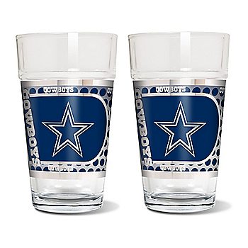 Dallas Cowboys 2 Pack 16oz Pint Gl