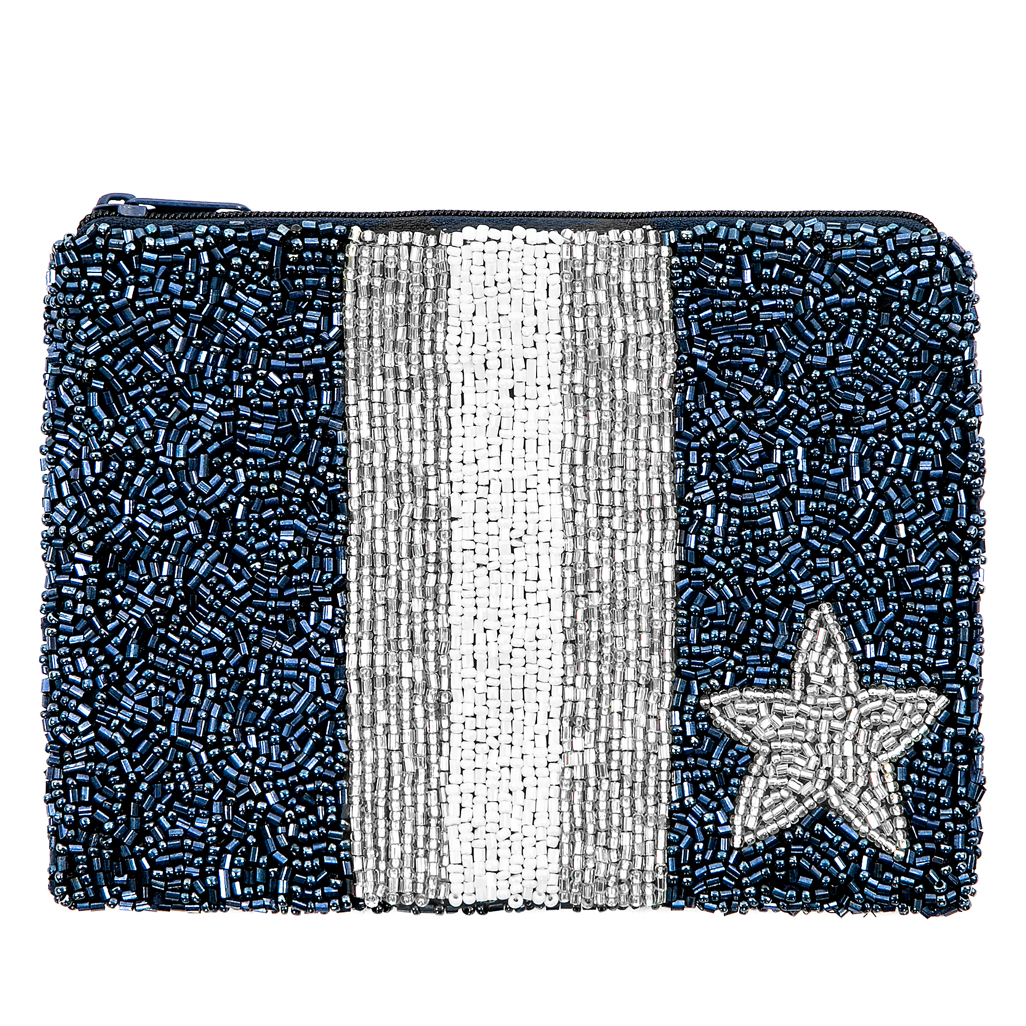 Studio  Moyna Beaded Stars and Stripes Coin Purse