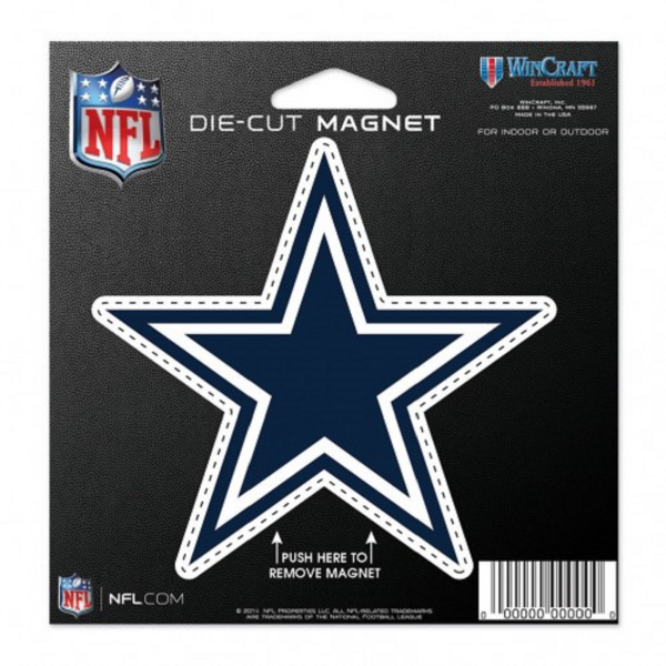 Dallas Cowboys 4x5 Die-Cut Magnet