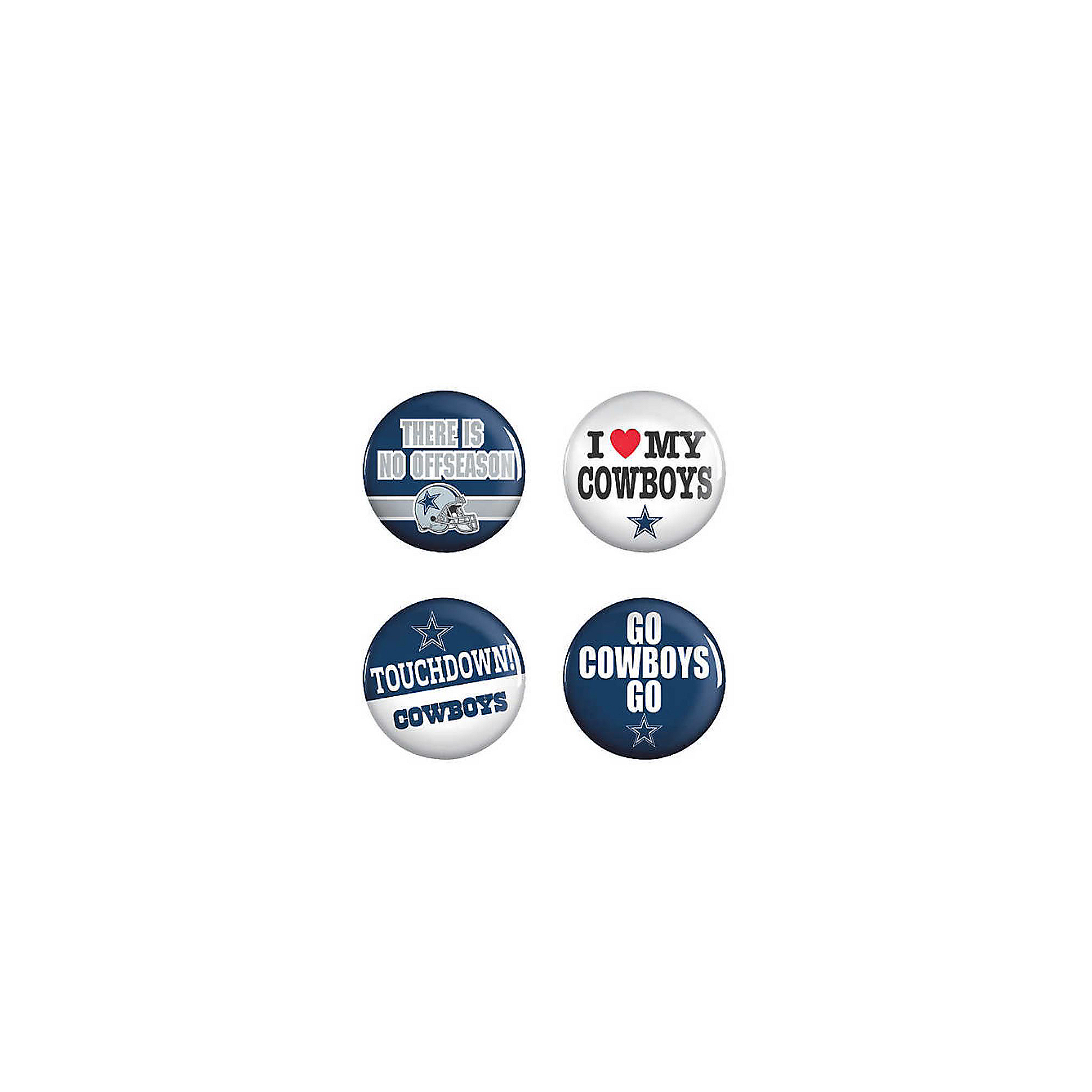 Dallas Cowboys 4-Pack Buttons