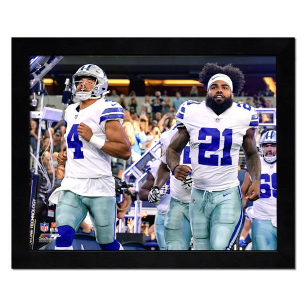 Dallas Cowboys 11x14 Dak & Zeke Game Entrance Frame