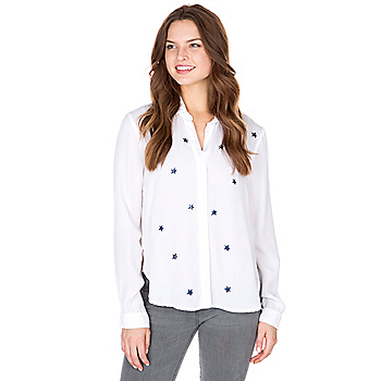 Studio Bella Dahl Star Tulip Hem Button Down Top