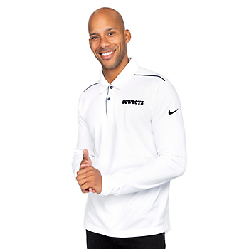Dallas Cowboys Nike Mens Team Issue Long Sleeve Polo