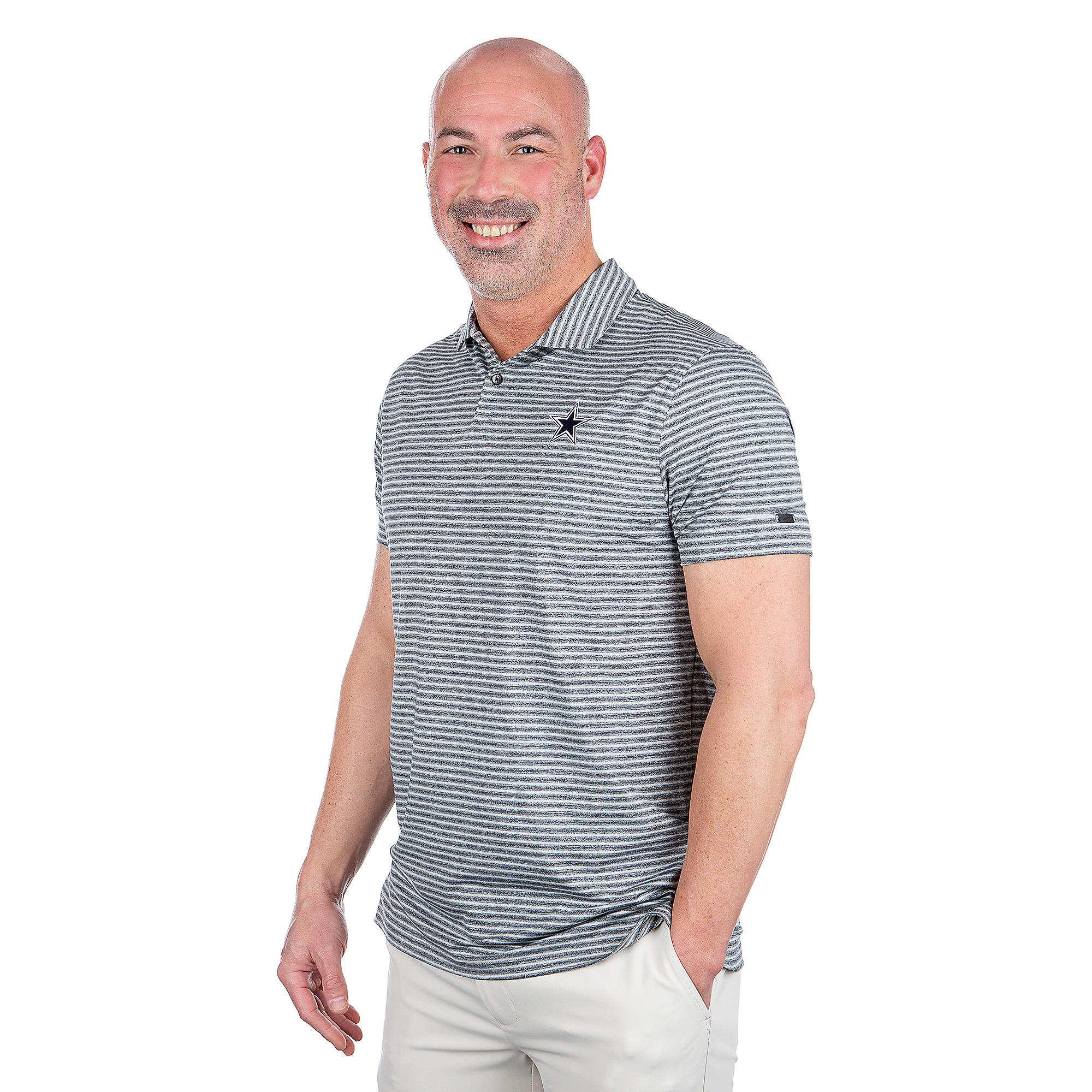 Dallas Cowboys Nike Dri-FIT Mens Tiger Woods Stripe Polo