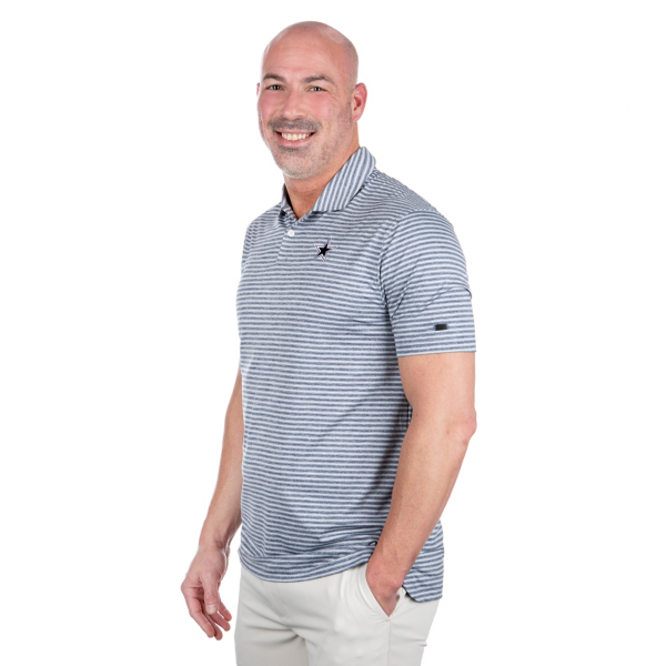 Dallas Cowboys Nike Dry Mens Tiger Woods Stripe Polo