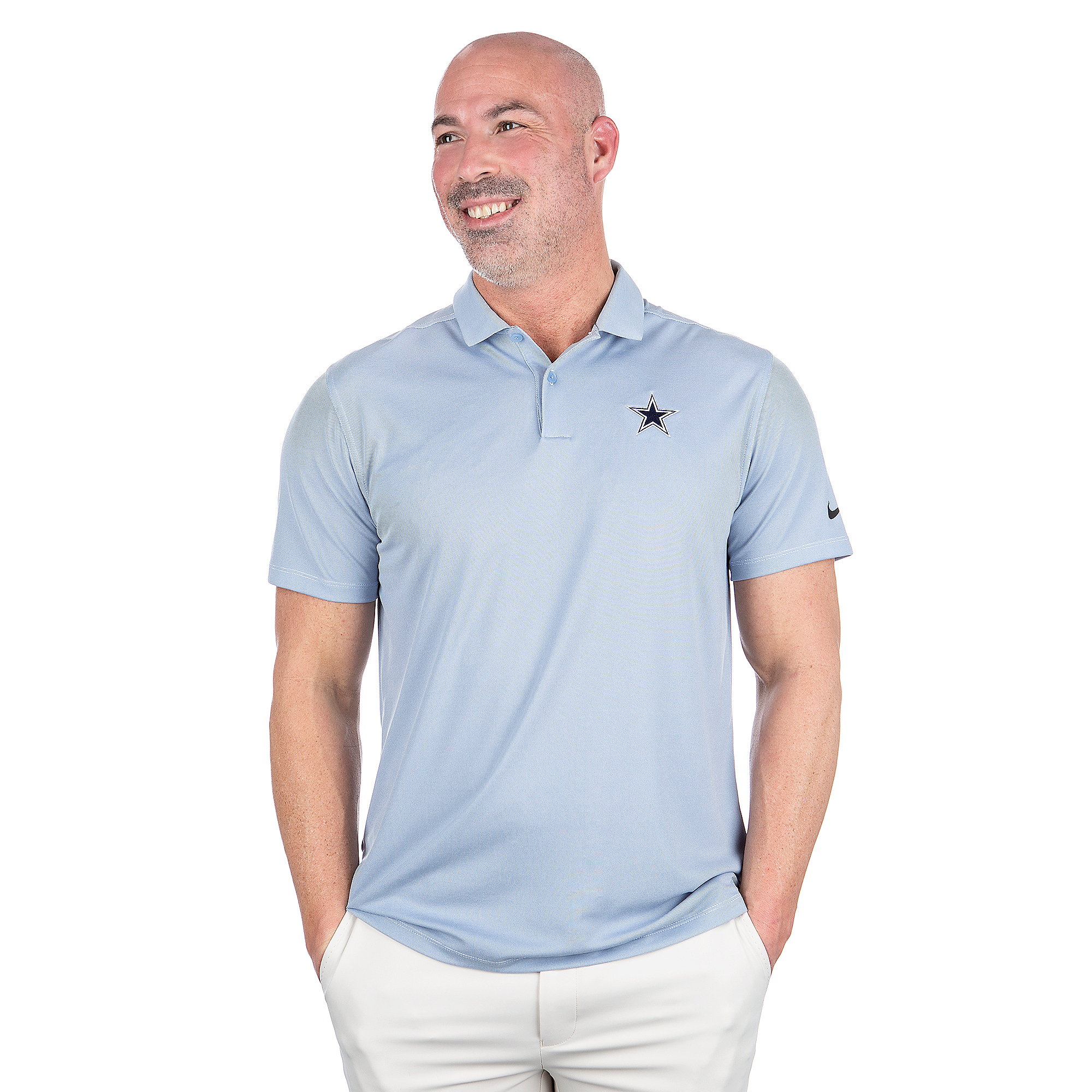 Dallas Cowboys Nike Dry Mens Heather Vapor Polo
