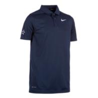 Dallas Cowboys Boys Nike Dry Navy Victory Golf Polo