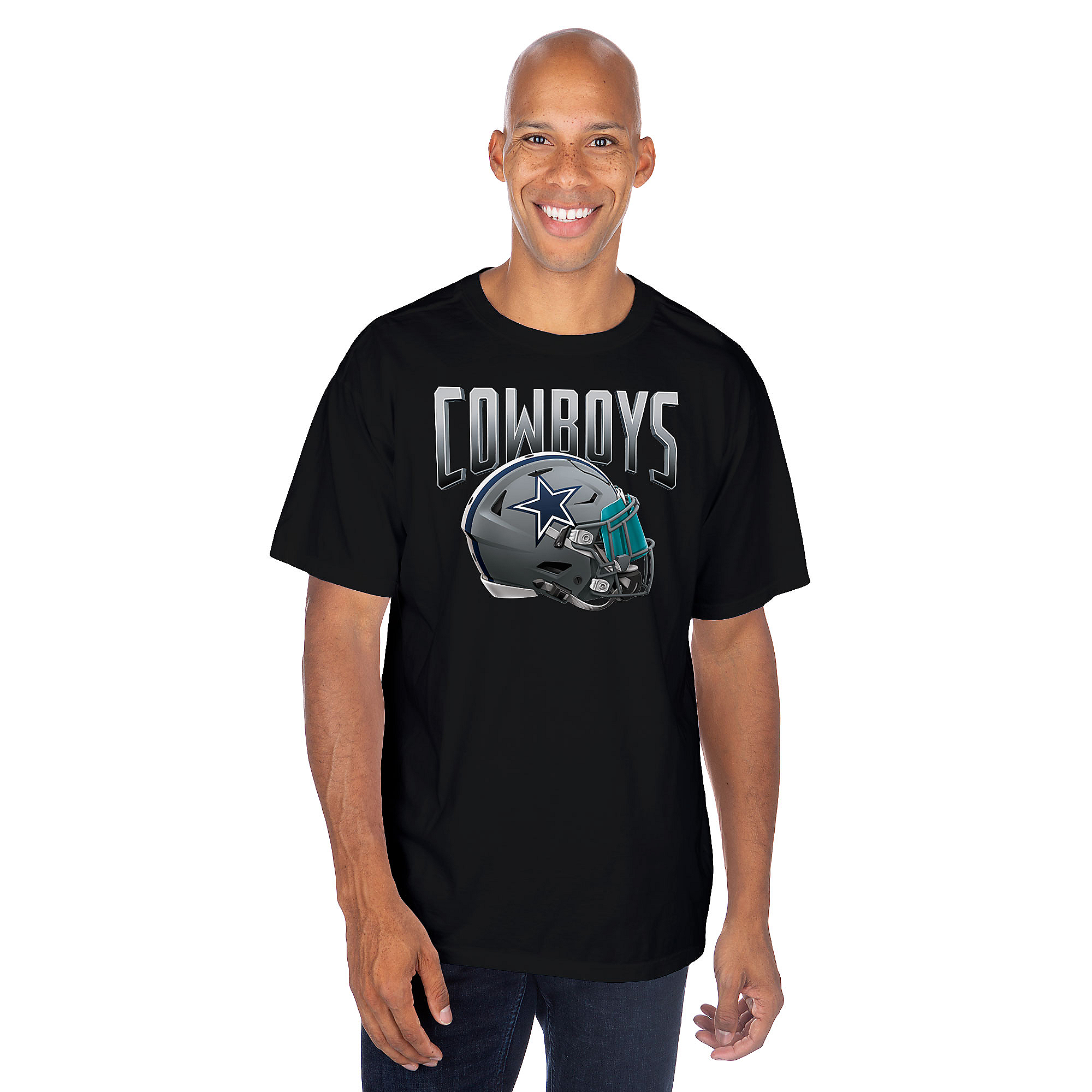 Dallas Cowboys Mens Apex Helmet Short Sleeve T-Shirt