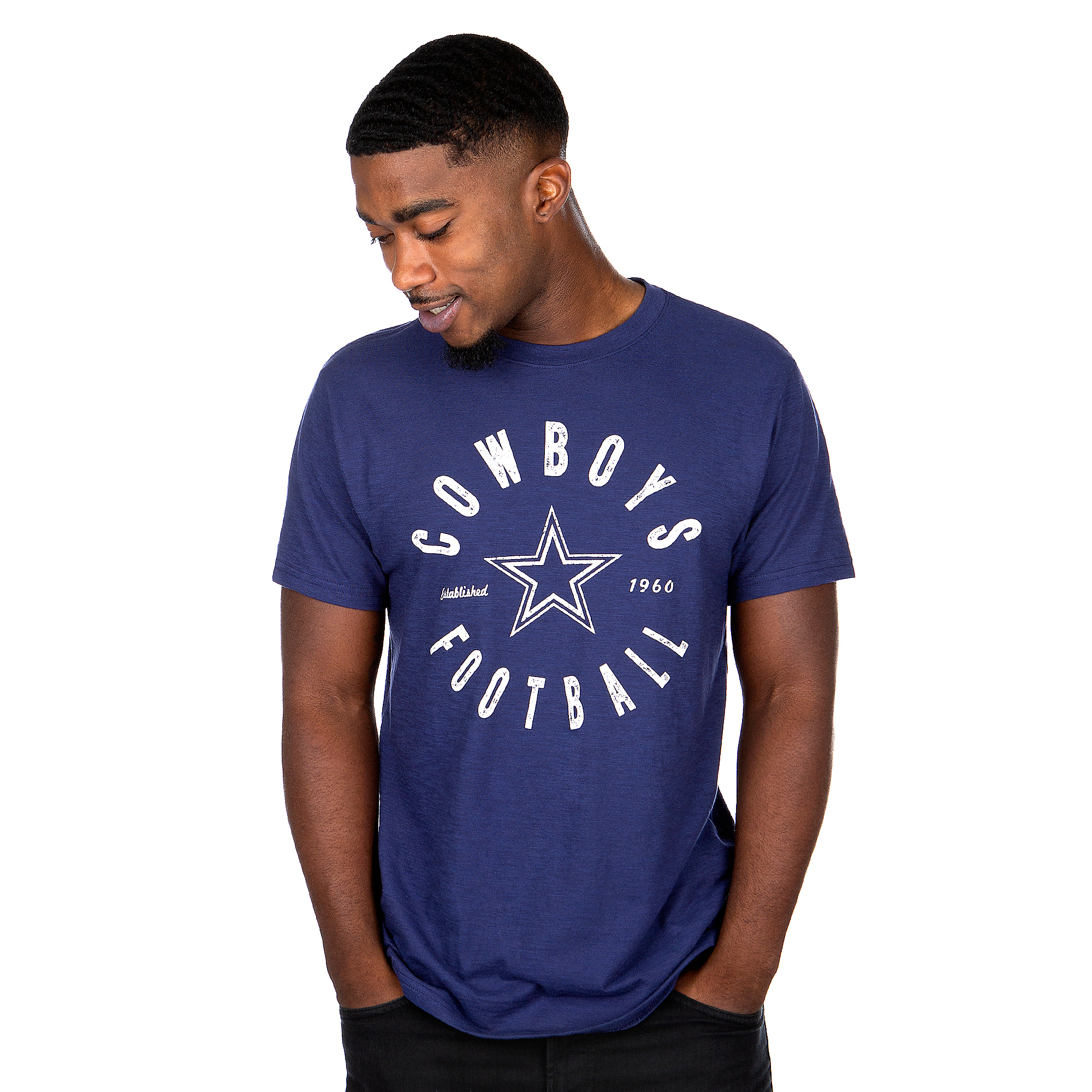 Dallas Cowboys Mens Cameo Short Sleeve T-Shirt