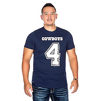 Dallas Cowboys Mens Dak Prescott #4 Nike Player Pride 3 T-Shirt