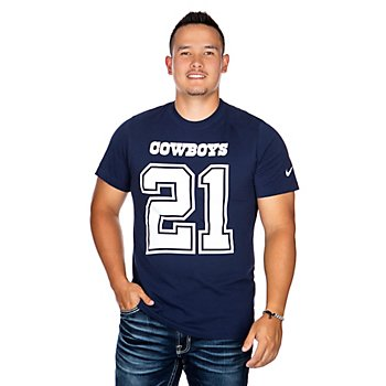Dallas Cowboys Mens Ezekiel Elliott #21 Nike Player Pride 3 T-Shirt