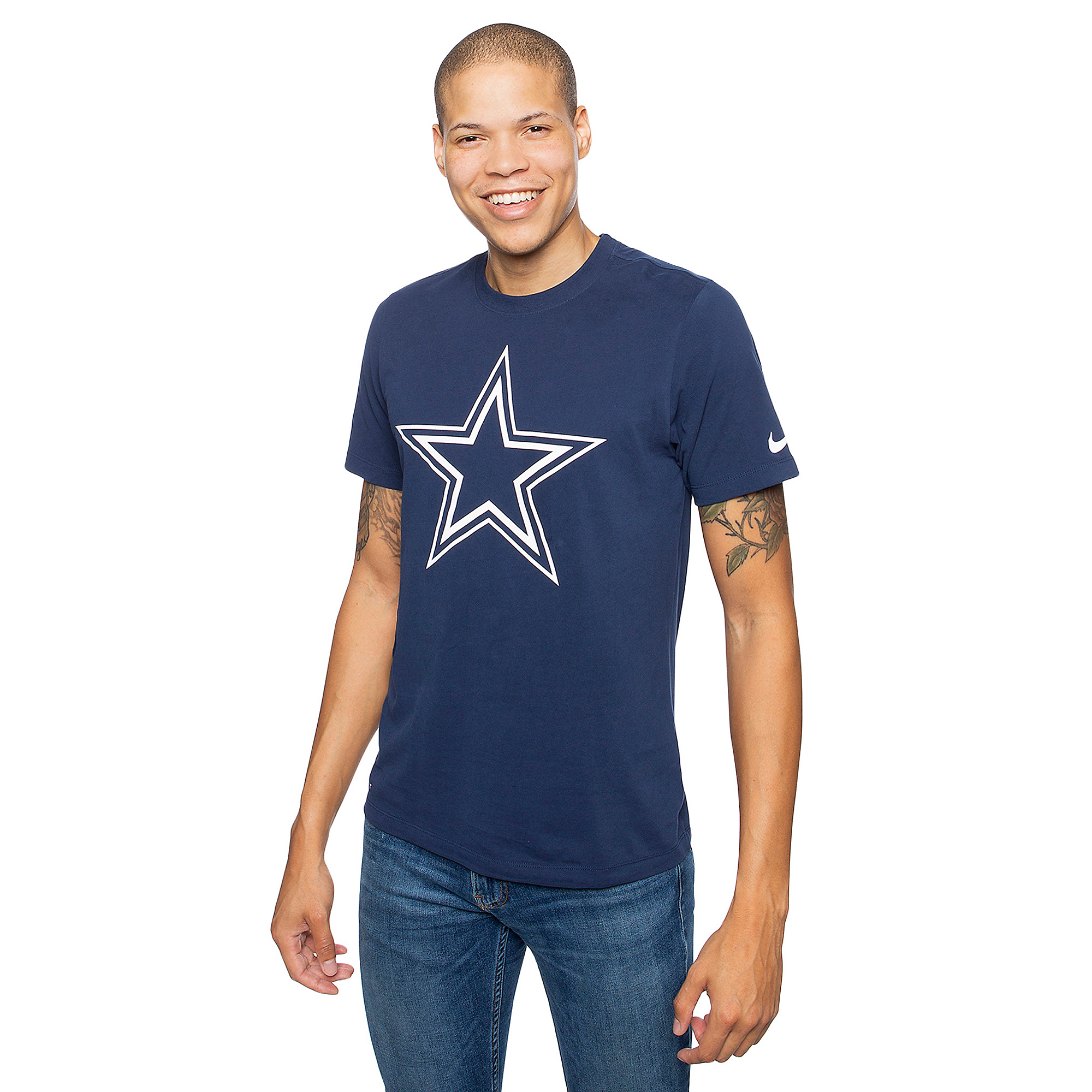 Dallas Cowboys Nike Mens Dri-FIT Logo Short Sleeve T-Shirt