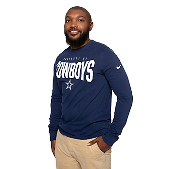 Dallas Cowboys Nike Mens Dri-FIT Cotton Property Of Long Sleeve T-Shirt