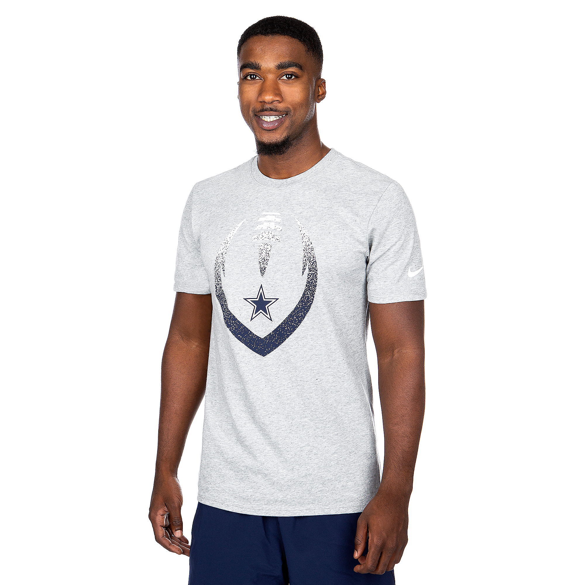 Dallas Cowboys Nike Mens Dri-FIT Cotton Modern Icon Short Sleeve T-Shirt