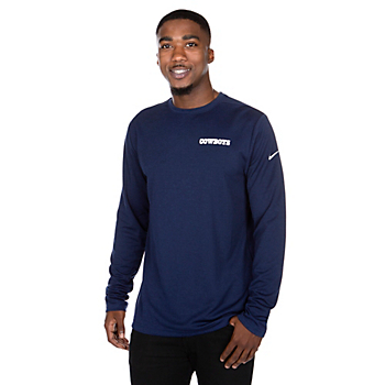 Dallas Cowboys Nike Mens Coach Dry Long Sleeve T-Shirt