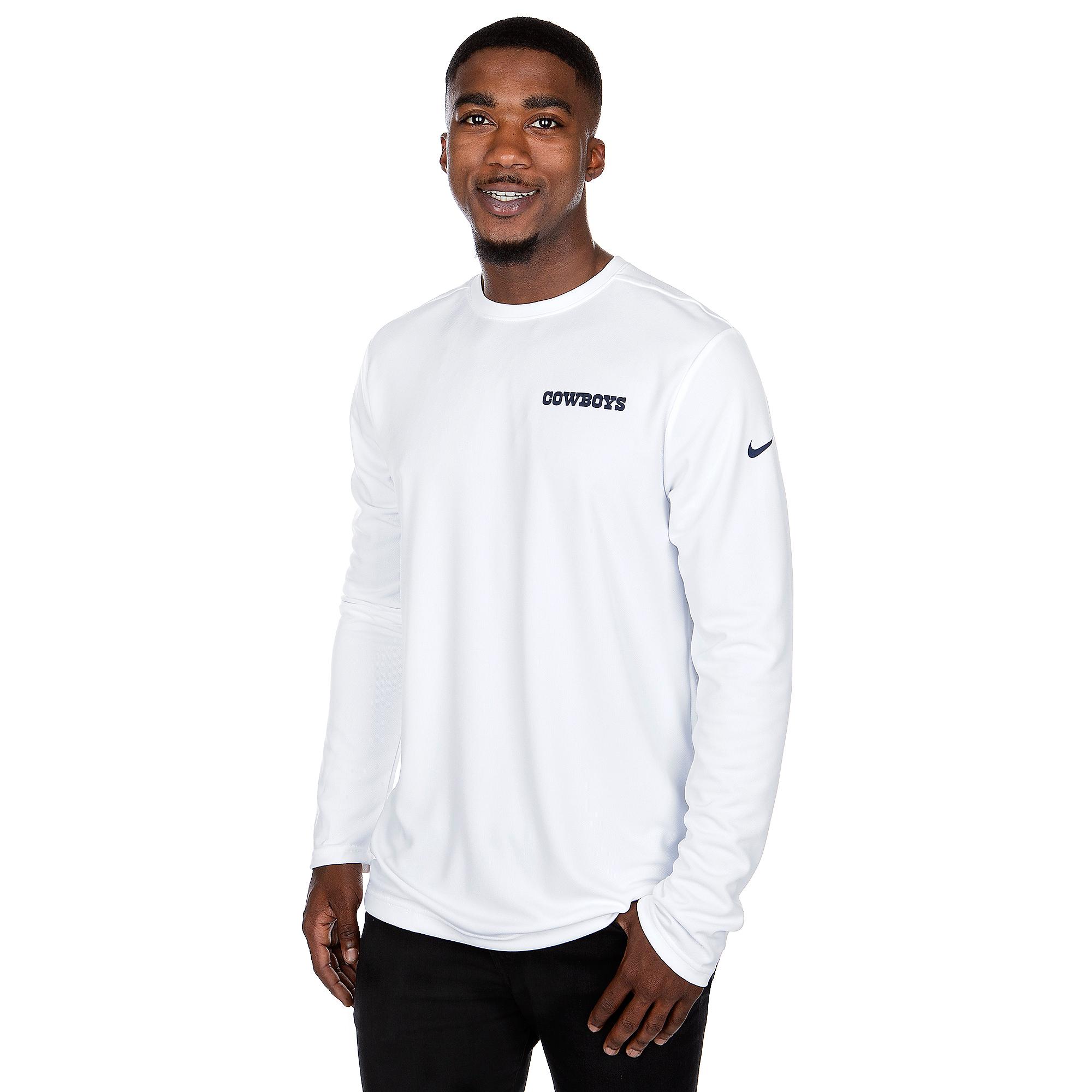 Dallas Cowboys Nike Mens Dri-FIT Coach Long Sleeve T-Shirt