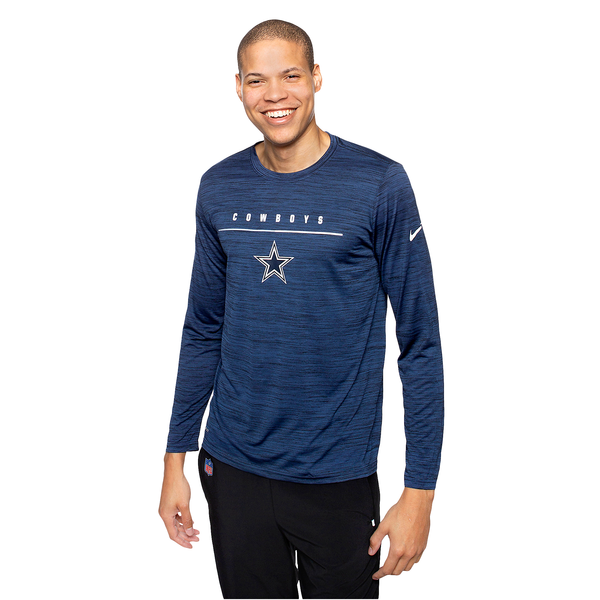 69775740 Dallas Cowboys Nike Mens Legend Velocity Sideline Long Sleeve T ...