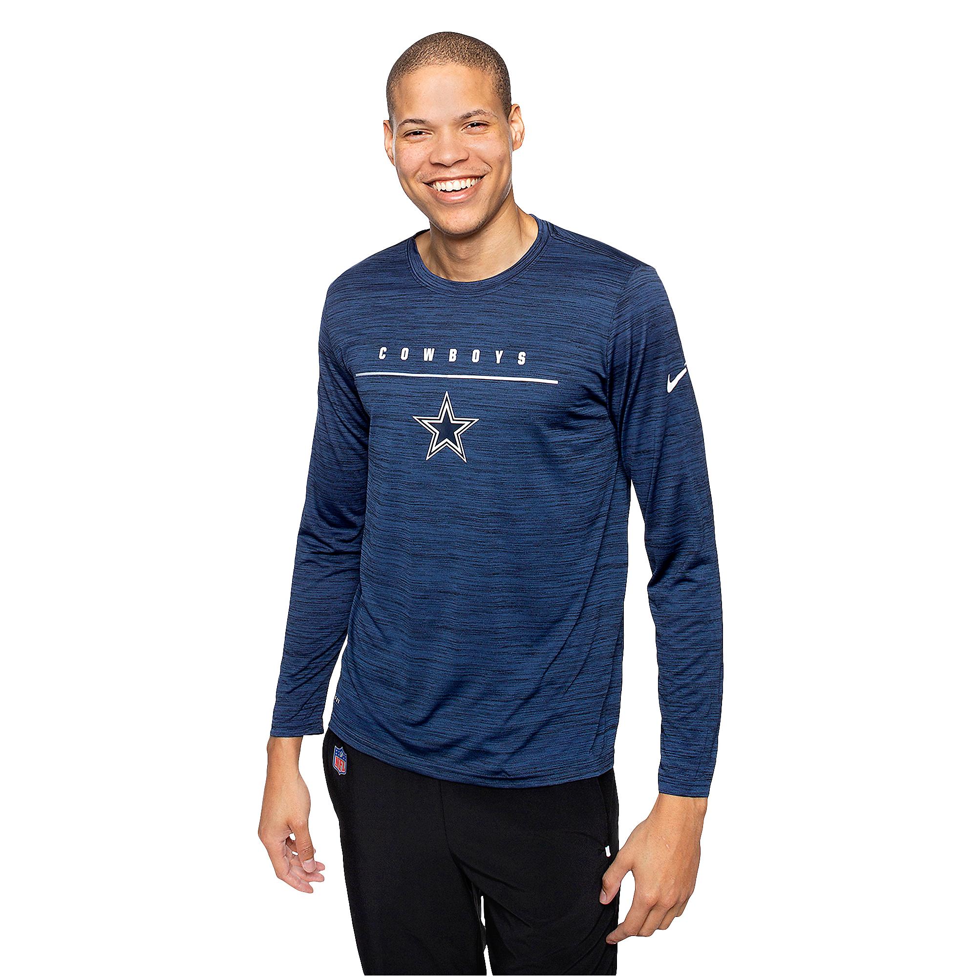 Dallas Cowboys Nike Mens Legend Velocity Sideline Long Sleeve T-Shirt