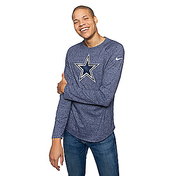 Dallas Cowboys Nike Mens Historic Marled Raglan T-Shirt