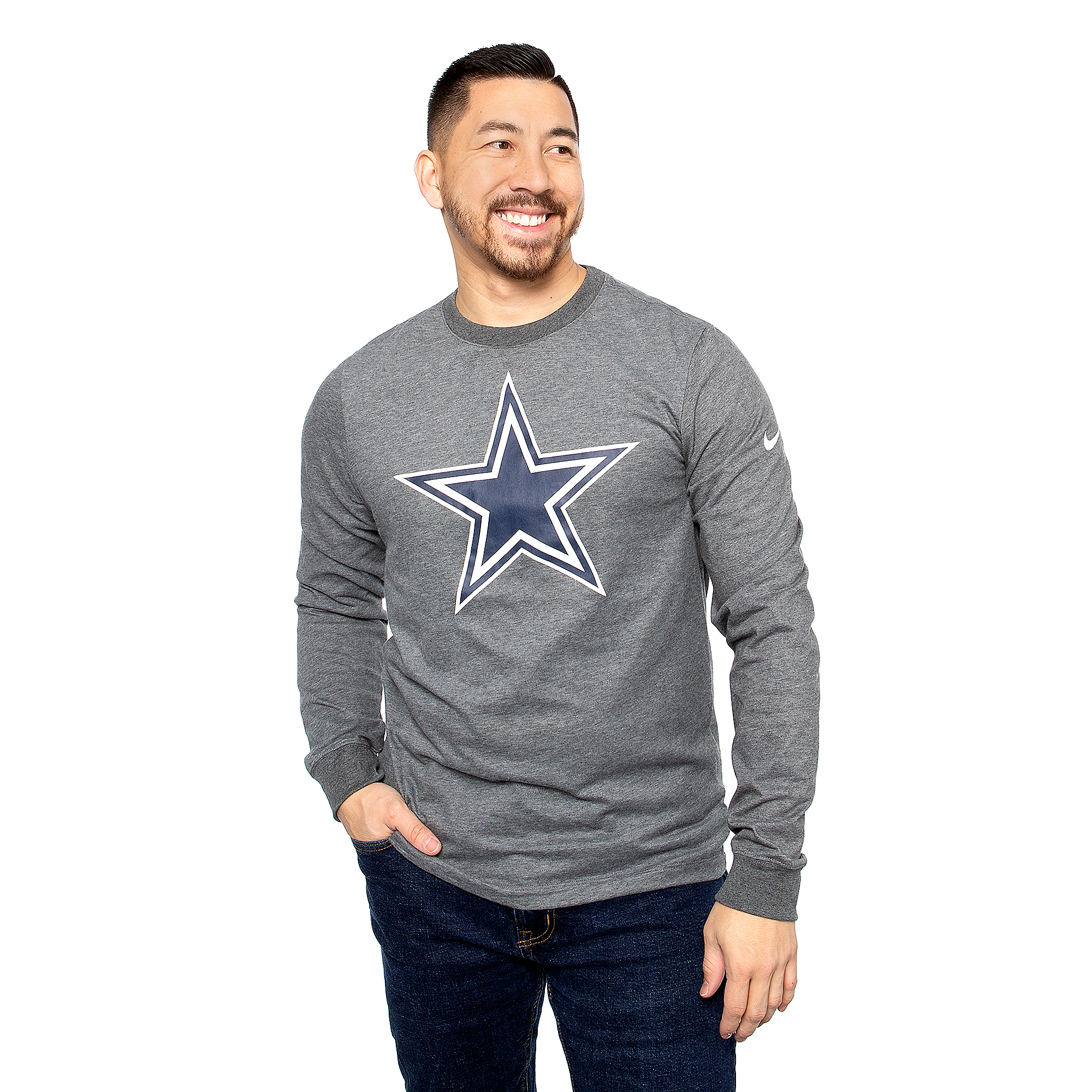 Dallas Cowboys Nike Mens Primary Logo Long Sleeve T-Shirt