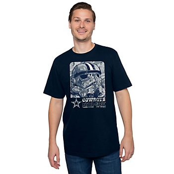 Dallas Cowboys Star Wars Mens Woodland Trooper Short Sleeve T-Shirt
