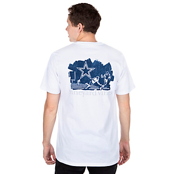 Dallas Cowboys Vineyard Vines Stiff Arm Short Sleeve T-Shirt