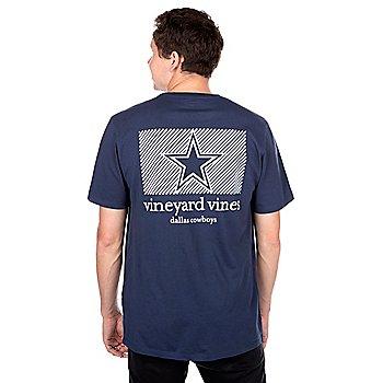 Dallas Cowboys Vineyard Vines Diagonal Stripe Short Sleeve T-Shirt