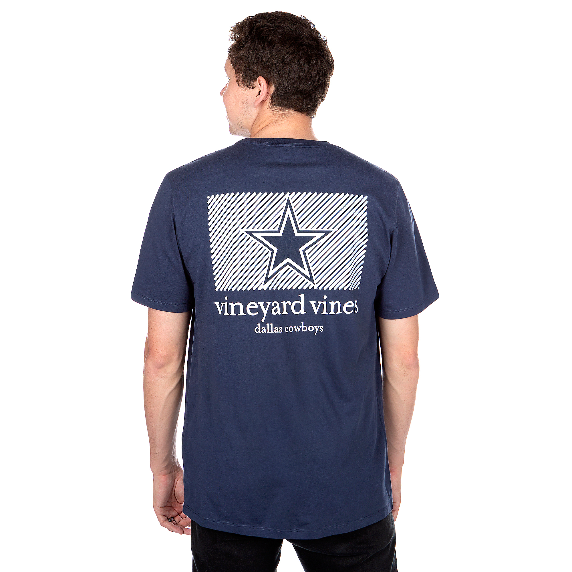 Dallas Cowboys Vineyard Vines Diagonal Stripe Short Sleeve T-Shirt